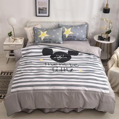 2020新款13372全棉活性印花卡通床裙款四件套-单层款 1.5m床单款四件套 美国梦