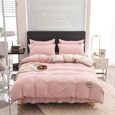 2020款色织床裙系列四件套-不夹棉款 1.5m床裙款四件套 玉色