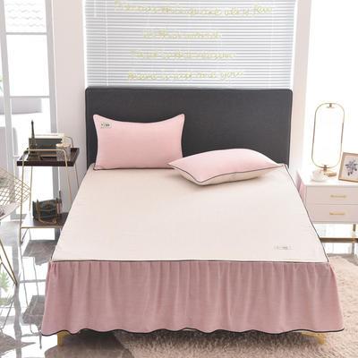 2020款色织床裙系列三件套-不夹棉款 150cmx200cm 玉色