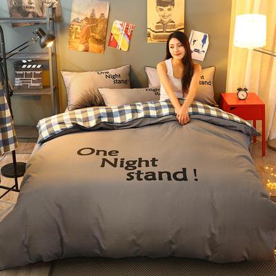 2021新款全棉活性大版印花床裙四件套 1.2m(4英尺)床 深灰