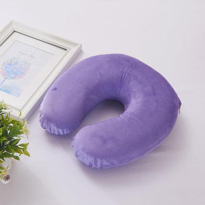 伟邦家纺 记忆棉办公 趴趴枕 腰靠 U枕坐垫 系列  仿超柔U型护颈椎 紫色