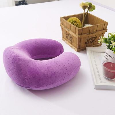 伟邦家纺 记忆棉办公 趴趴枕 腰靠 U枕坐垫 系列  新款 竹炭U型护颈椎增强版 紫色