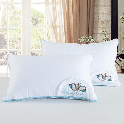 伟邦枕芯 专版花型 暖心鹅绒羽丝枕 48*74cn 暖心鹅绒