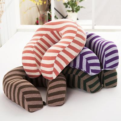 伟邦枕芯 无印良品 风格 条纹3代U型枕 条纹3代颈枕