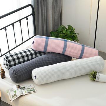 伟邦枕芯 圆柱形多功能抱枕 白格