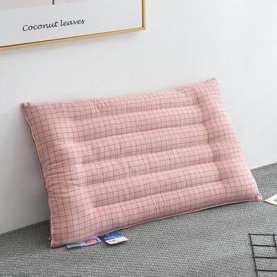 2020新款格子简约低枕 5厘米(48*74) 粉