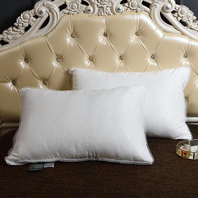 2020新款奢华韩版提花羽丝绒枕(48*74) 奢华韩版提花羽丝绒枕
