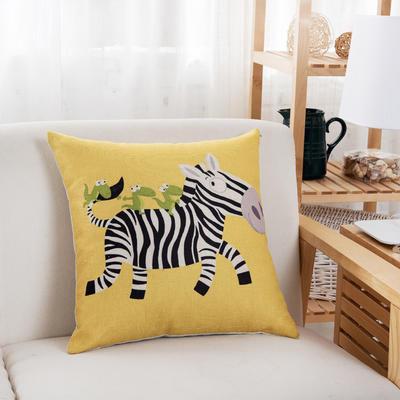 棉系列棉麻靠垫 45x45cm 斑马