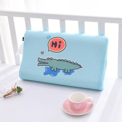 2020新款卡通儿童乳胶枕(26*44) 小鳄鱼