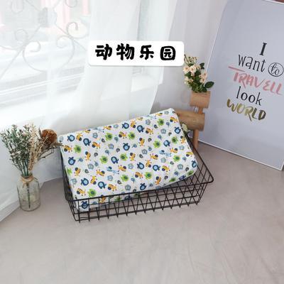 2020新款针织全棉儿童乳胶枕 45×27㎝ 动物乐园