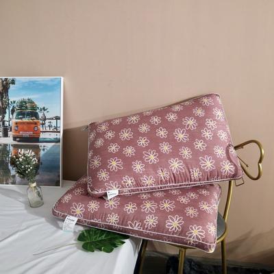 2020新款小雏菊水洗热熔枕-48×74cm/只 红色
