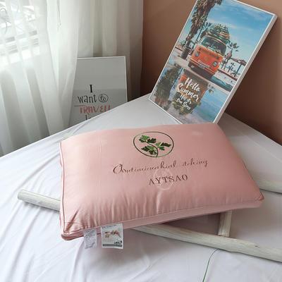 2020新款艾草水洗热熔枕-48*74cm/个 粉色