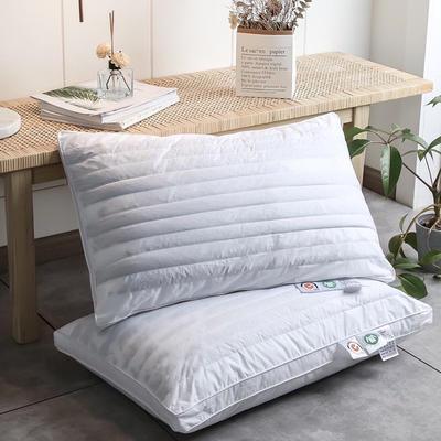 2020新款全棉立体荞麦羽丝绒枕-48x74cm/个 全棉立体荞麦羽丝绒枕