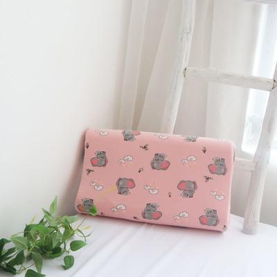 2020新款莱卡棉儿童乳胶枕-44*27cm/只 粉色小象