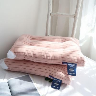 2020新款日式全棉系列水洗枕-48×74㎝/只 粉玉条纹