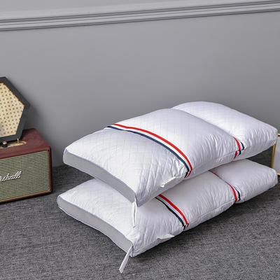 2021新款英伦风三分区护颈枕枕头枕芯 白