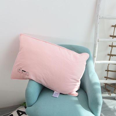 2021新款提花淳氧棉呼吸低软枕 玉色