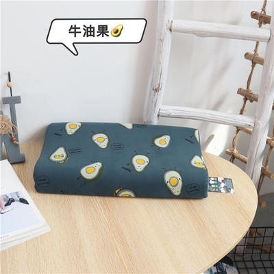 2021新款全新一代儿童乳胶枕枕头枕芯 牛油果