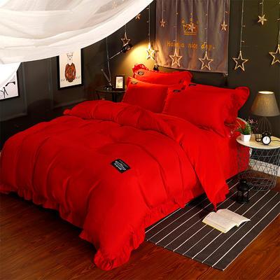 水晶绒简尚款四件套 标准(1.5/1.8米床) 大红
