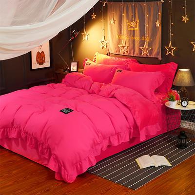 水晶绒简尚款四件套 标准(1.5/1.8米床) 砖红