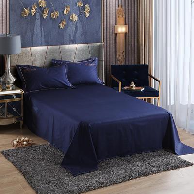 2019新款-60长绒棉单品床单 160*250cm 罗宾-宝石蓝