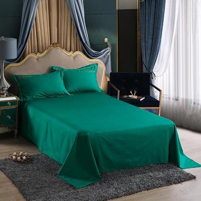 2019新款-60长绒棉单品床单 245*250cm 罗宾-草绿