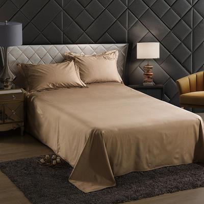 2019新款-60长绒棉单品床单 160*250cm 罗宾-卡其
