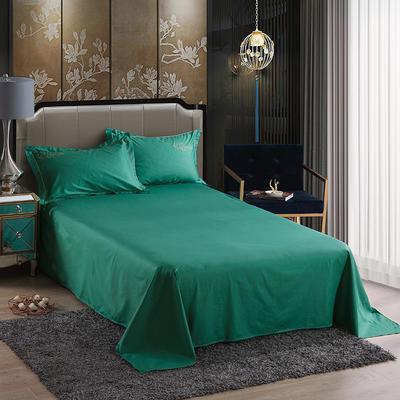 2019新款-60长绒棉单品床单 245*250cm 罗宾-玛瑙绿