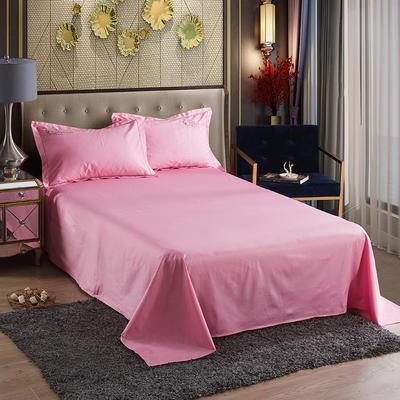 2019新款-60长绒棉单品床单 160*250cm 罗宾-深粉