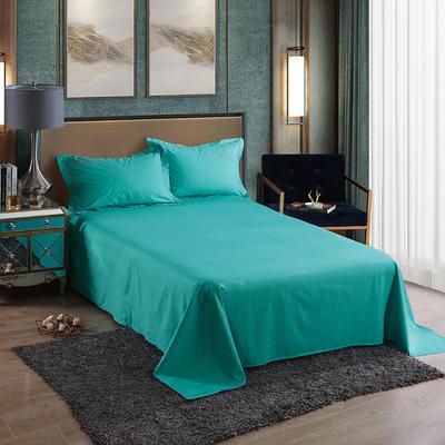 2019新款-60长绒棉单品床单 160*250cm 罗宾-松石绿