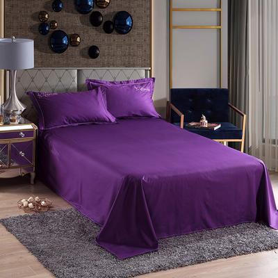 2019新款-60长绒棉单品床单 245*250cm 罗宾-紫色