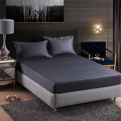 2019新款-60长绒棉单品床笠 180cmx200cm 罗宾-灰色