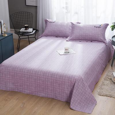 2019新款-纯棉床单 245cmx250cm 典雅麦穗 紫