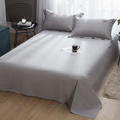 2019新款-纯棉床单 245cmx250cm 欧陆世家 灰