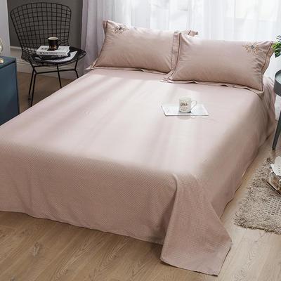 2019新款-纯棉床单 245cmx250cm 欧陆世家 咖