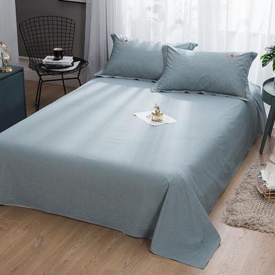 2019新款-纯棉床单 245cmx250cm 欧陆世家 蓝