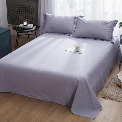 2019新款-纯棉床单 245cmx250cm 欧陆世家 紫