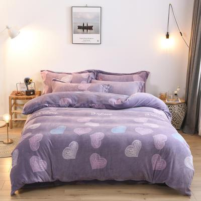 2019新款-牛奶绒单被套 200X230cm 甜心(紫)