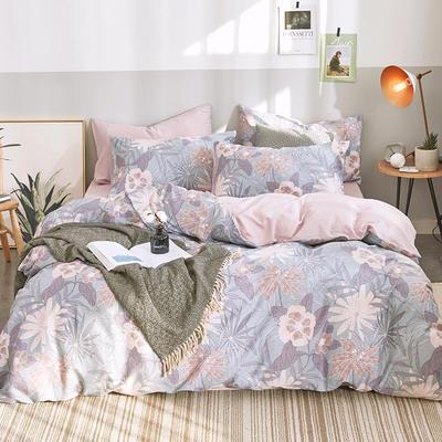 2020新款-13372纯棉四件套 床单款三件套1.2m(4英尺)床 1幽梦800
