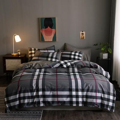 2020新款-13372纯棉四件套 床单款四件套1.5m(5英尺)床 5温伯-灰