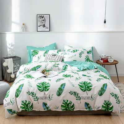 2020新款-13372纯棉四件套 床单款三件套1.2m(4英尺)床 9蝉夏1111