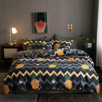 2020新款-13372纯棉四件套 床单款四件套1.5m(5英尺)床 10菠萝派
