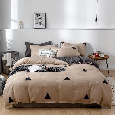2020新款-13372纯棉四件套 床单款四件套1.5m(5英尺)床 11不染