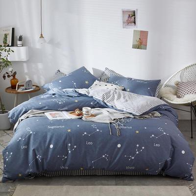 2020新款-13372纯棉四件套 床单款四件套1.5m(5英尺)床 16十二星座