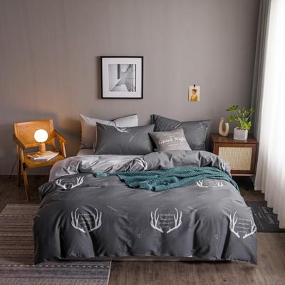 2020新款-13372纯棉四件套 床单款四件套1.5m(5英尺)床 20北欧之鹿
