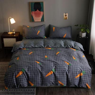 2020新款-13372纯棉四件套 床单款四件套1.5m(5英尺)床 22网红萝卜