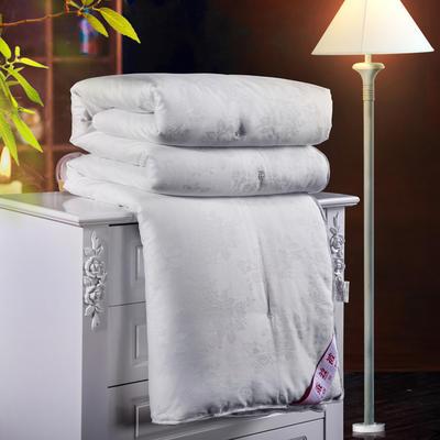 2019新款全棉提花蠶絲被 150*200cm-6斤 白色