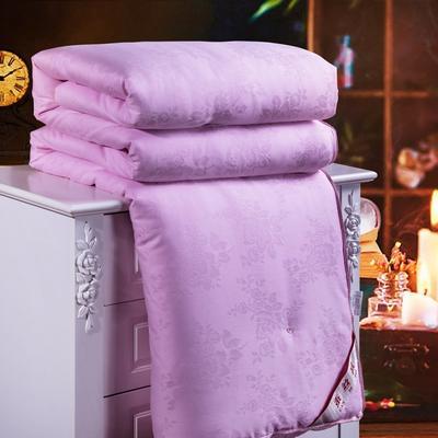 2019新款全棉提花蠶絲被 150*200cm-6斤 粉色