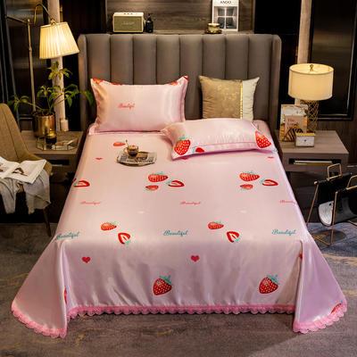 2020新款冰絲席-床單款 200*240cm 草莓甜心
