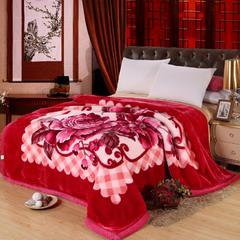 月光毯 系列 200cmx230cm 1149橡皮红